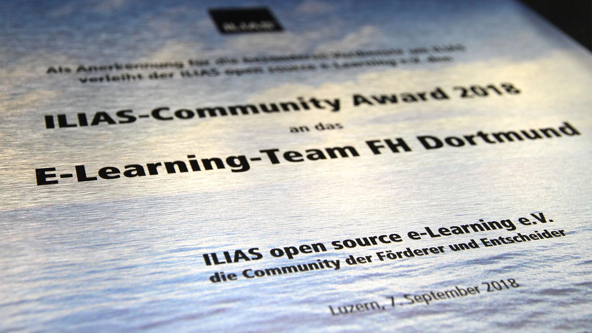 FH Dortmund bekommt ILIAS-Award verliehen