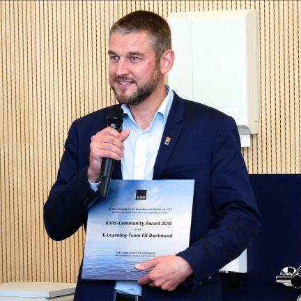 Klaus Vorkauf bei der Verleihung des Community-Awards am 7. September 2018