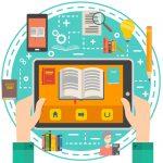 Symbolbild Digitale Lehre: Tablet und Smartphone und Bücher