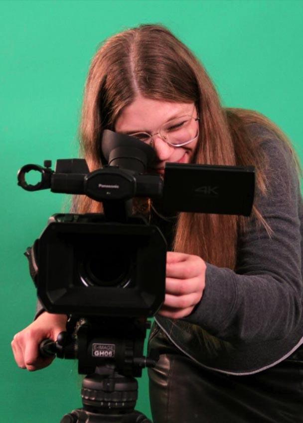 Leonie vom Videoteam