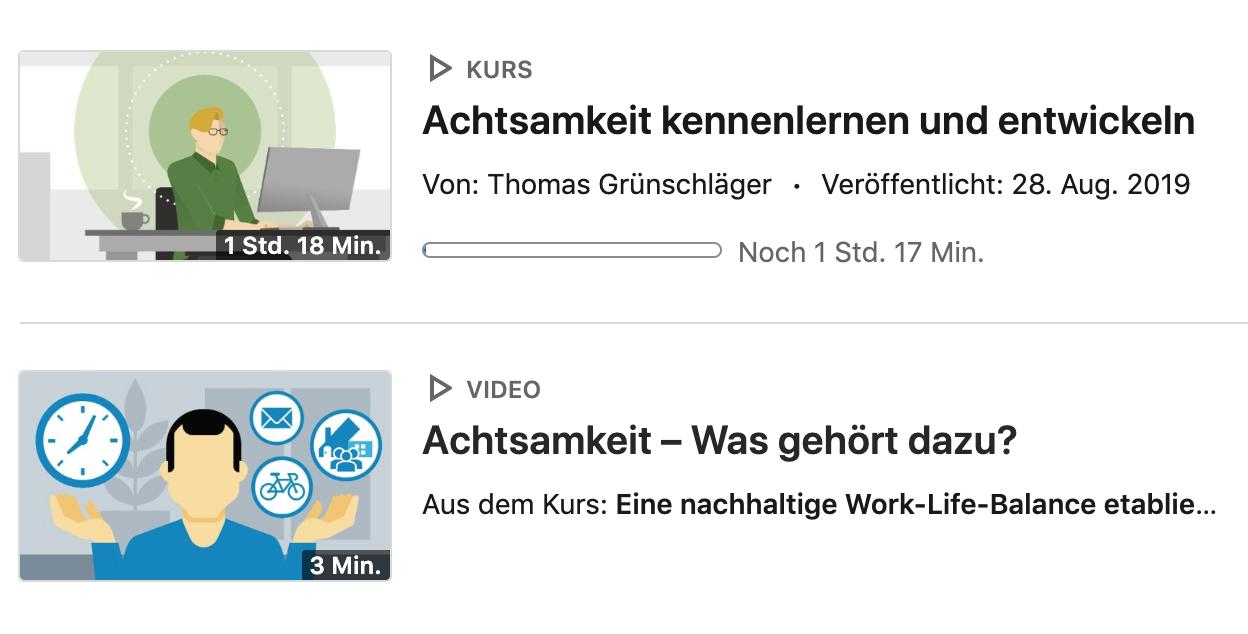 Screenshot LinkedIn Learning