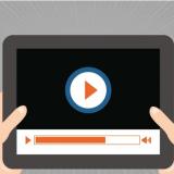 Videoportalansicht auf Tablet