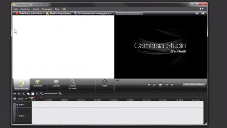 Screenshot aus einem Tutorial zu Camtasia