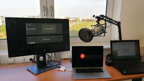 Arbeitsplatz mit Camtasia Setup